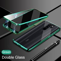 Double Sided Glass Magnetic Cases For Xiaomi Redmi Note 9 Pro 9s 8 7Pro 8 9 9A K20 Mi 10T Lite 9T Note10Pro Magnet Cover
