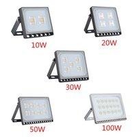 Floodlights 6PCS Ultrathin LED Flood Light 10W 20W 30W 50W 100W IP65 110V 220V Spotlight Refletor Outdoor Lighting Wall Lamp Floodlight