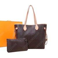 Diseñadores de alta calidad Bolsos de cuero para mujer bolsos de hombro con billetera con billetera Paquete de madre Paquete de composición bolso de composición Monedero Lady Totes 2pcs / Set N51106 M40157