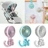 Stroller Parts & Accessories Portable Mini Handheld Octopus Baby Fan With Student Desktop USB Tripod Electric Bed Clip-on Flexible I3Q0