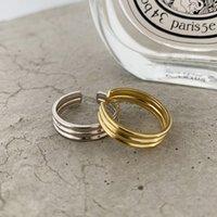 Horizontal listras anéis 925 prata punk jóias charme boémia minimalismo presente de aniversário haut femme anéis para mulheres anillos j1208