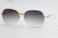 3.5 lente sem aro espessura série pantera qualidade 3524012 Atacado edição de uv400 óculos de metal leopardo bom os óculos de sol 18k masculino odsl