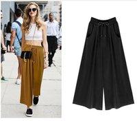 Women's Pants & Capris ZOGAA Women Wide Leg Streetwear Summer Loose Comfort Solid Bell Bottom Plus Size Casual Sweatpants