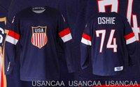 Hommes Femmes Team Youth Team USA Blue Ice Hockey Jersey Oshie Nom et numéro Numéro Stitchesd Jerseys XS-5XL 6XL