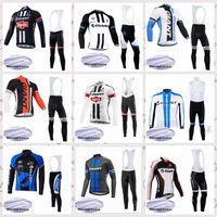 Equipo gigante Manga larga Invierno Termal Fleece Ciclismo Jersey Bib Pantalones Sets MTB Outdoor Warm Sportswear E61523