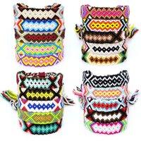 Nation Windfarbe Baumwolle Freundschaft Armband Manuelle Webart Handseil Kollision Fremdland Wind Dekorative Muster Krawatte Armband