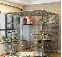 CACE CAGE VILLA VILLA BARRIER-FREE PLAY SUPER GRAND SPACE GRATUIT CAT House Porte de luxe Grande maison Cat House Catsuper large plate-forme