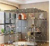 Носители CAT, Дома для ящиков Супер широкая платформа CAGE Villa Barrier-Free Играть Большое бесплатное пространство Внутренний Дом Роскошные ворота
