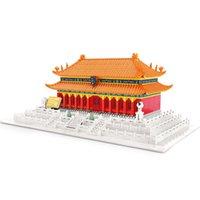 Wange 6221 Stile cinese Pechino Proibiti City Palazzo di Harmony Assemblato Tity Building Model Building Block Giocattoli per bambini H0824