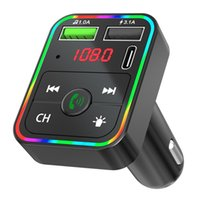 F2 car charger Bluetooth FM transmitter kit TF card MP3 player speaker 3.1A dual USB adapter wireless audio receiver PD charger