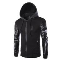 Veste d'hiver Hommes Cuir Cuir Patchwork Vestes Hommes Style Punk Style Automne Manteaux Hommes Vêtements De Vêtements Homme Homme Vêtements Chaud