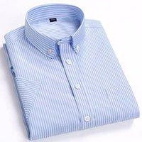 Pure Cotton Mens Shirts Short Sleeve Oxford Solid Simple Comfortable Fashion Shirt Mens Dress Shirts Summer Slim Fit Shirt Men1