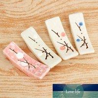 1 stücke Japanischer Stil Keramik Schneeflocke Design Essstäbchen Inhaber Umweltfreundlich Home Küche Essstäbchen Rest Standpflege Gadget Werkzeuge