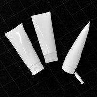 150g weiße leere Plastik-Squeeze-Flaschen-Kosmetik-Röhrchen 150ml Gesichtslotion Handcreme Verpackungsbehälter glänzend freies Verschiffen