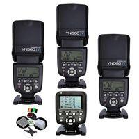 Yongnuo YN560-TX 2.4G Trigger Controller + 3 Pcs Flash YN560IV Speedlite Yn-560 IV para câmera DSLR