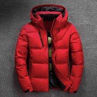 Giacca da uomo di marca di lusso 2021 Giacca invernale Mens Qualità Cappotto di spessore termico Snow Snow Red Black Parka Maschile Outwear Moda - Duc bianco