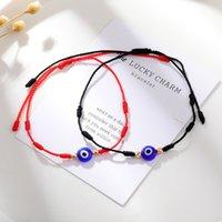 Evil Turkish Lucky Eye Bracelets For Women Handmade Braided Red Black Rope 7 Knots Good Luck Jewelry Friendship Bracelet
