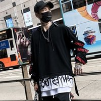 2021 новый хип-хоп Rock T Camisa Engraado DOS Homens ES DEMENTS DE ALTA RUA TSHIRT Streetwear Japons Outono Com Capuz CamiSetas Masculinas Le