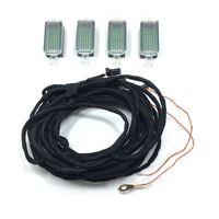 Câble d'éclairage intérieur 4 pcs de 4 pcs d'origine pour golf Jetta Mk5 MK6 Passat B6 B7 Tiguan Octavia Leon 3AD 947 409