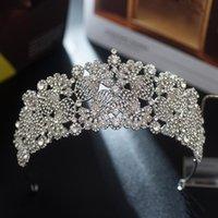 Hair Clips & Barrettes Bridal Crown Headwear For Female Wedding Birthday Headdress Rhinestones Inlaid Retro Luxury Accessories EA