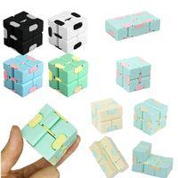 Infinity Cube Candy Couleur Couleur Fidget Puzzle Anti Decompompression Toy Toy Finger Spinners Jouets amusants pour adultes enfants adhd stress