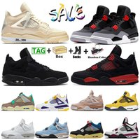 2021 With Box Nike Air Jordan Retro 4 Jumpman 4s Taupe Haze Womens Mens Basketball Shoes Sail Starfish University Blue Sneakers Sports Trainers Size eur 47