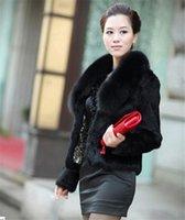 2021 Nouveau Faux Femmes Simple Hiver Design Foîtes de renard Colliers Colliers manteau de fourrure pour lapin Femme Vêtements d'extérieur Plus Taille 5xL WXF51 THBO