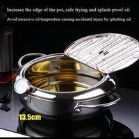 Pans Kitchen Deep Frying Pot Tempura Fryer Pan Temperature Control Fried Japanese Style Cooking Tools Utensil