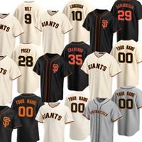 Personalizado 35 Brandon Crawford Jersey 20 21 San Francisco Yastrzemski Buster Posey Brandon Belt Pence Madison BumGarner Williams Baseball Jersey