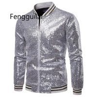 FengGuilai Мужчины Блестящие Blazers Gold Sequin Bletitter Suit Куртки Мужской Ночной клуб Один Кнопка Костюм Blazer DJ Stage Blazers X0615