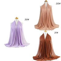 الأوشحة اللؤلؤ الشيفون فقاعة أحادية اللون وشاح جودة عالية مبيعات بيع مباشرة مصنع الحجاب العرقية V7Q2
