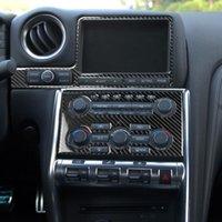 Karbon Fiber İç Kapak CD Paneli Direksiyon Kapağı Dişli Vites Trim Kiti Araba Aksesuarları Nissan GTR R35 2008-2016 için Fit