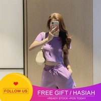 suit Two shaping piece body for women 2021 East Gate summer hooded short sleeve sweater + sports shorts for women
