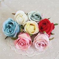 Rosa flor cabeza artificial flores rosa flor rosa flor decoración de la pared decoraciones de la boda DIY Valentines Day Regalos XD24555