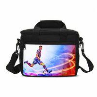 حقيبة غداء صغيرة بارد العاطفة الرياضة كرة القدم 3d الطباعة حقيبة الجليد معزول النزهة الحرارية غداء في الهواء الطلق حقائب اليد T8R8 #