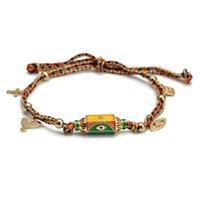 Charm Bracelets Colorful Letter Pendant Bracelet For Women Boho Gold Turkish Evil Eye Bead Couple Art Punk Hip Hop Handmade Jewelry Puls