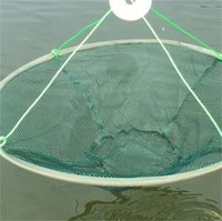 25 de Alta Qualidade Rede dobrável Grande Nylon Nylon Nylon Durável Nets Redes De Prawn Bait Cravo Camarão Peixe Armadilha Pesca Net 241 W2