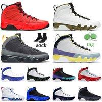 Nike Air Jordan 9 Jumpman 9 Chaussures de basket-ball pour hommes 9s Changez le monde Gym Rouge City of Flight Chameleon Hommes Baskets de sport Baskets Taille 13