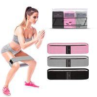 Bandas de resistência 3 peças Set Fitness Rubber Faixa Expansor Elástico para Exercício Equipamento de Exercício Home Guma do Fitnes C0223