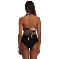 Tyburn Nuevo Cintura Alta Bañador Bikinis Mujeres Vendaje Top Push Up Swimwear Trajes de baño Femeninos Ropa de playa Bijuini