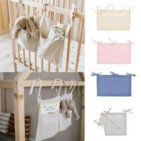 Diaper Bags Baby Crib Pocket Nursery Organizer Solid Bedside Toys Hanging Storage Bag Descr Stroller Accessories Bag#45
