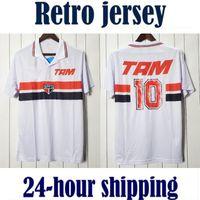 1993 Sao Paulo Retro White Home Stadion Camisetas de Fútbol United Fussball Jersey Vintage Football Hemd Classic Camiseta