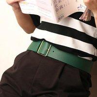 Kemerler PU Deri Kadın Bel Kemeri Kot Için Altın Toka Geniş Bayanlar Elbise Kayışı Kadın Kazak Kemer