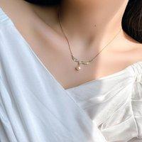 قلادة حورية البحر ميرميد الذيل نيلاس سلسلة غيسن سلسلة الماس الترقوة سلسلة المجوهرات