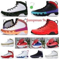 2022 Jumpman 9 9s Alterar o mundo Mens Basquetebol Sapatos Autênticos Sneakers University Racer Ginásio Azul Gym Red Unc Sonho Fazê-lo Criado Homens Ix