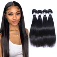 Peruvian Hair Straight Bundles Weave Non Remy Human Hairs Extensions Natural Black 3 4 Pieces Double Weft for Women