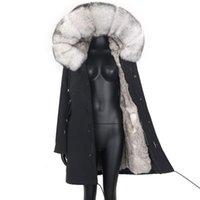 Women's Fur & Faux 2021 Woman Jacket 7XL Winter Real Parka Coats Warm Coat Long Women Streetwear Waterproof Fashion Slim