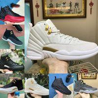 Nike Air Jordan 12 retro jordans 2021 OVO BLANCO FIBA 12 Juego de gripe inversa Dark Concord 12S Mens Baloncesto Shoes University Gold Indigo Game Royal