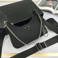 Black Nylon Schulter Messenger Bag für Frauen Handtasche Hobo Designer mit Mini-Tasche Luxusmarke Weibliche Crossbody