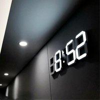 Wall Clocks 3D LED Clock Modern Creative Design Digital Watch Alarm Night Light For Home Living Room Decoration